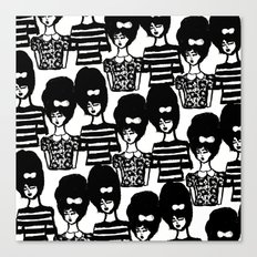 Bouffant Girls Canvas Print