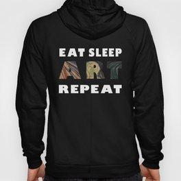 Eat Sleep Art Repeat The Scream Edvard Munch Hoody
