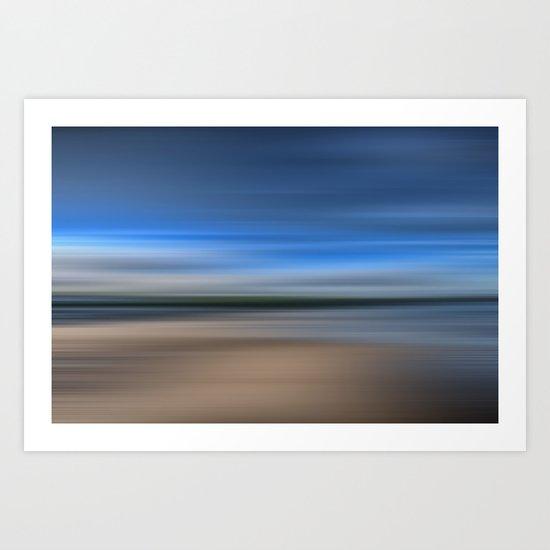 Beach Blur Art Print
