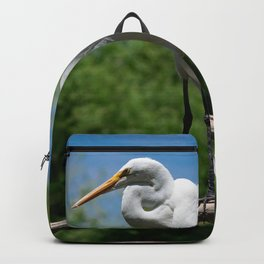 Great Egret Two - Utah Backpack