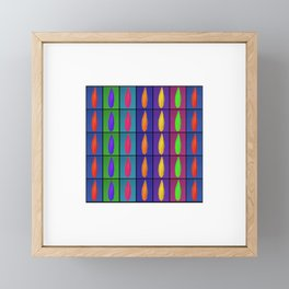 Petals in Stripes Again Framed Mini Art Print