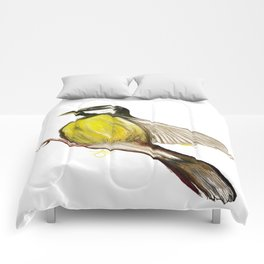 Bird in Flight, Yellow Bird Comforters