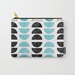 Marble Half-Moons in Tiffany Blue Carry-All Pouch