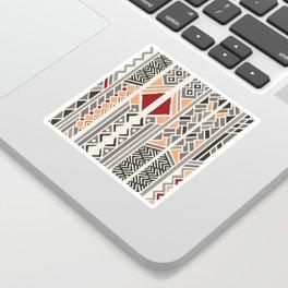 Tribal ethnic geometric pattern 034 Sticker