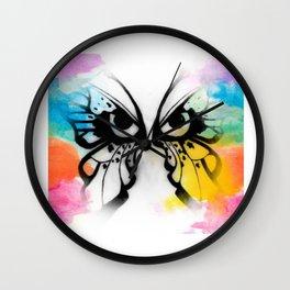 Skittle Butterfly Wall Clock