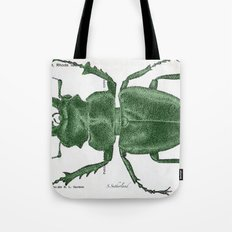 Green Beetle Postcard Tote Bag