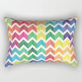 Watercolor Chevron Pattern IV Rectangular Pillow