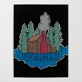 Walden - Henry David Thoreau (Coloured textured version) #society6 #decor #buyart Poster