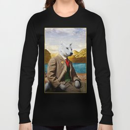 Mr. Wolf Relaxing at the Lake Long Sleeve T-shirt