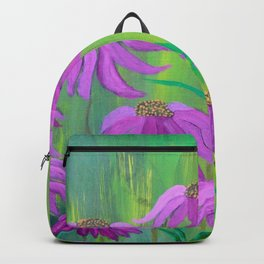 Purple Cone Flower (Echinacea) Backpack
