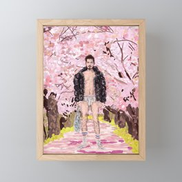 Cherry Blossom Park Dream Guy Framed Mini Art Print