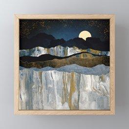 Painted Mountains Framed Mini Art Print