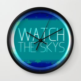 Watch The Skys Wall Clock