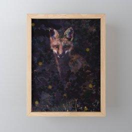 Fox & Fireflies Framed Mini Art Print