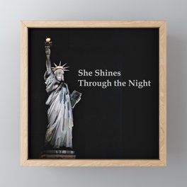 She Shines Through the Night 2 Framed Mini Art Print