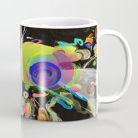 archan nair Mugs featuring Colliding Nebulas by Archan Nair