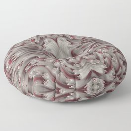 White Connections Floor Pillow