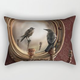 Brooke Figer - Reflection on Perception Rectangular Pillow
