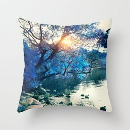 Hope in blue Throw Pillow