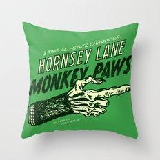 Monkey Paws Throw Pillow