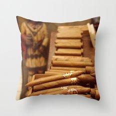 Cigarros Throw Pillow