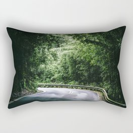 Driving the Hana Highway Rectangular Pillow
