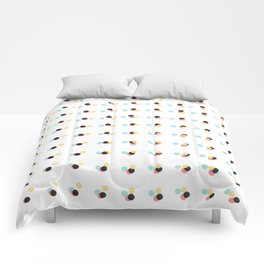 Abstract Painting Polka Dots Pattern Comforters