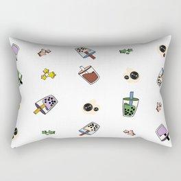 Boba Wall of Milk Tea Dreams Rectangular Pillow