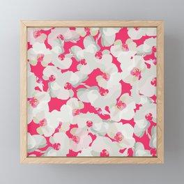 Orchid Blossom Pattern — Pink Framed Mini Art Print