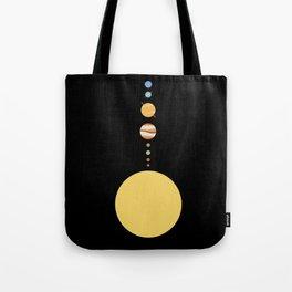 Minimal Solar System Tote Bag