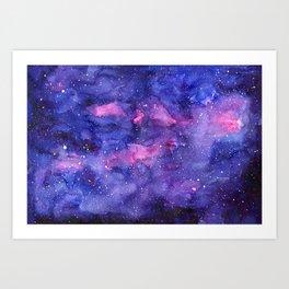 Galaxy Pattern Watercolor Art Print