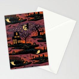 Halloween Night - Bonfire Glow Stationery Cards