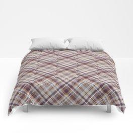 Plum orange rust diagonal plaid Comforters
