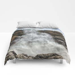Mist Creature Rising from Spouting Horn Comforters