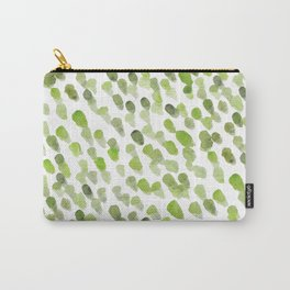Imperfect brush strokes - olive green Carry-All Pouch