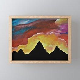 Everest Silhouette Framed Mini Art Print