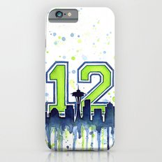Hawks 12th Man Fan Art Seattle Space Needle iPhone 6 Slim Case