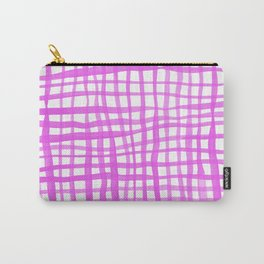 Watercolor doodle gingham - pink Carry-All Pouch