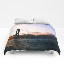 Golden Gate Bridge Sunrise, San Francisco Bay Comforters