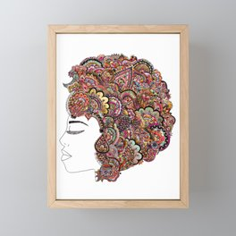 Her Hair - Les Fleur Edition Framed Mini Art Print