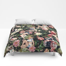 Floral and Pin Up Girls Pattern Comforters