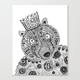 Burt Bear Canvas Print