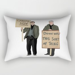 """""""DOWN WITH THIS SORT OF THING!..careful now"""" Rectangular Pillow"""