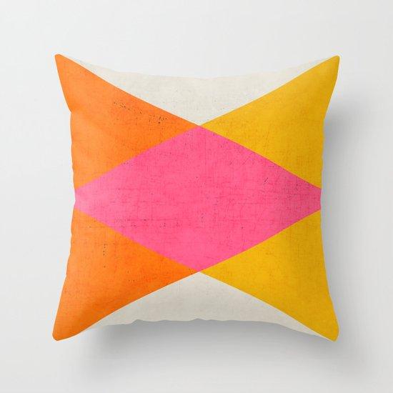 summer triangles Throw Pillow
