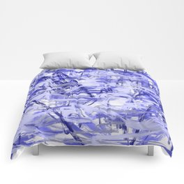 Light Blue Violet Abstract Comforters