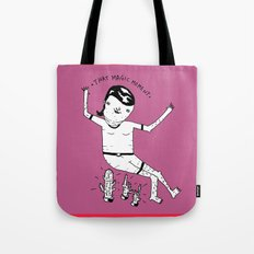 Crazy girl, crazy thougths. Tote Bag