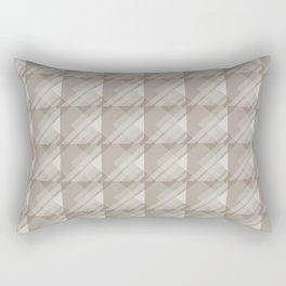 Modern Geometric Pattern 7 in Taupe Rectangular Pillow