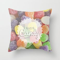 I Want Candy: Gumdrops Throw Pillow