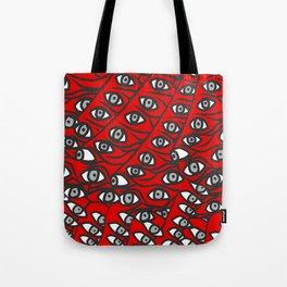 Freddie Eyeballs Red Tote Bag