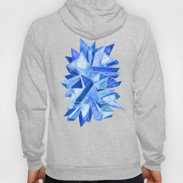 Sapphire Watercolor Facets Hoody
